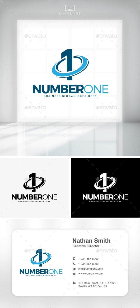 Number One Logo - Numbers Logo Templates
