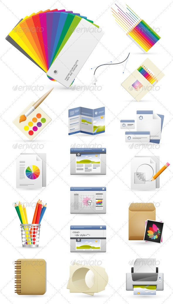 Graphic Design Icons - Web Technology