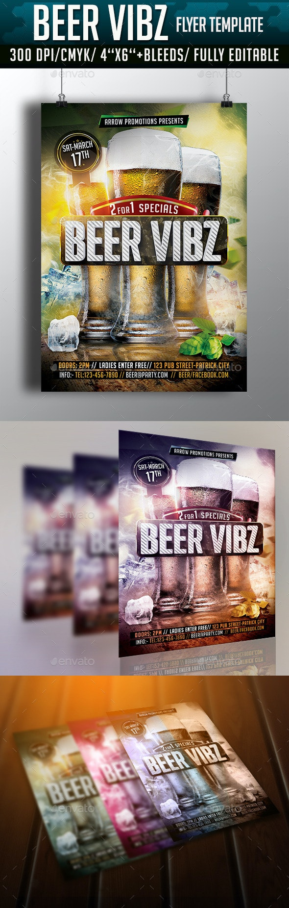 Beer Vibes Flyer Template - Clubs & Parties Events