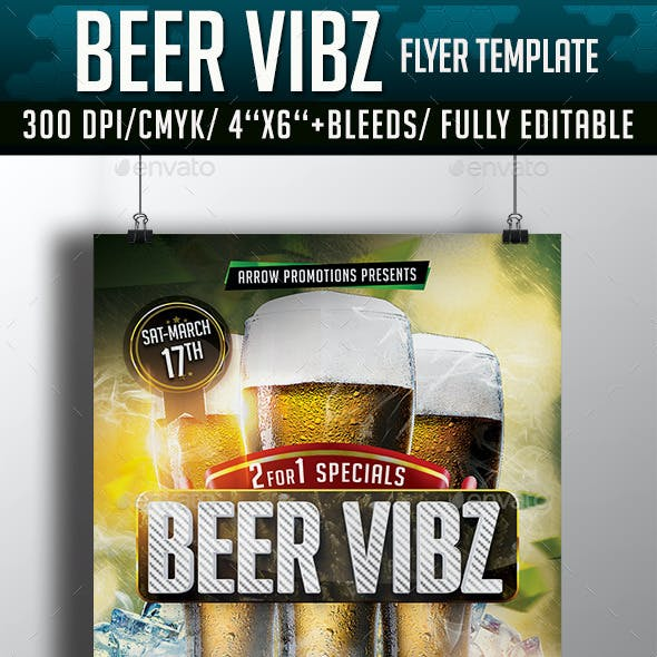 Beer Vibes Flyer Template