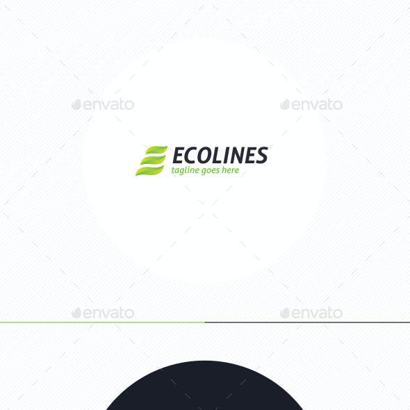 Eco Lines Logo • Letter E