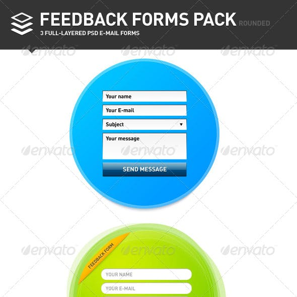 Feedback Forms Pack, Rounded