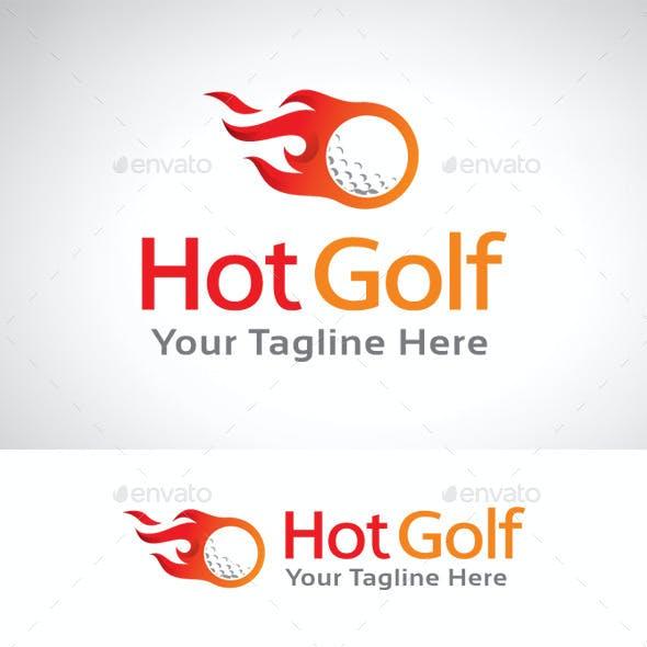 Hot Golf Logo Template