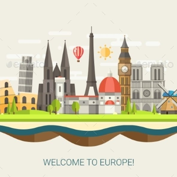 Welcome to Europe Concept