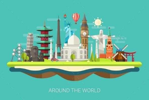 Around the World Concept  - Travel Conceptual