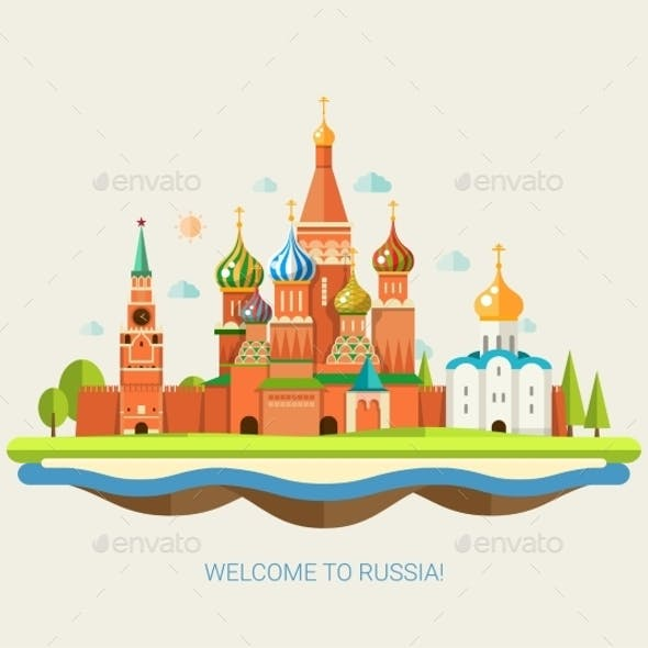 Travel Concept to Russia