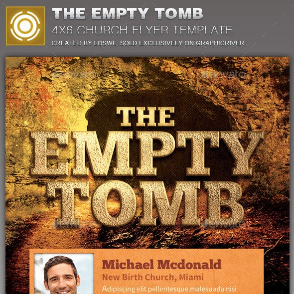 The Empty Tomb Church Flyer Template