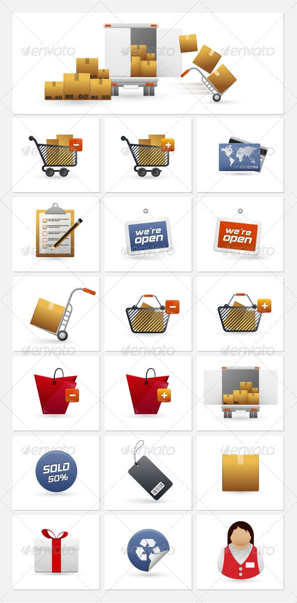 Shopping Icons - Web Elements