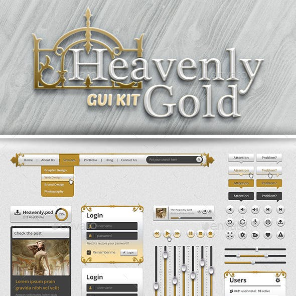 Gold UI Kit