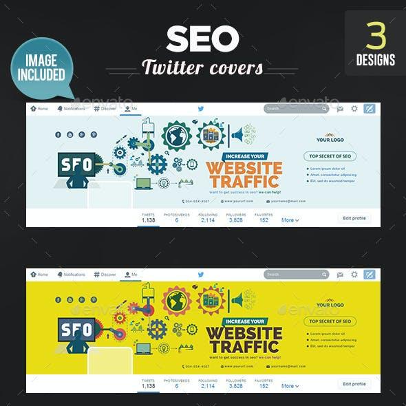 SEO Twitter Headers - 3 Designs
