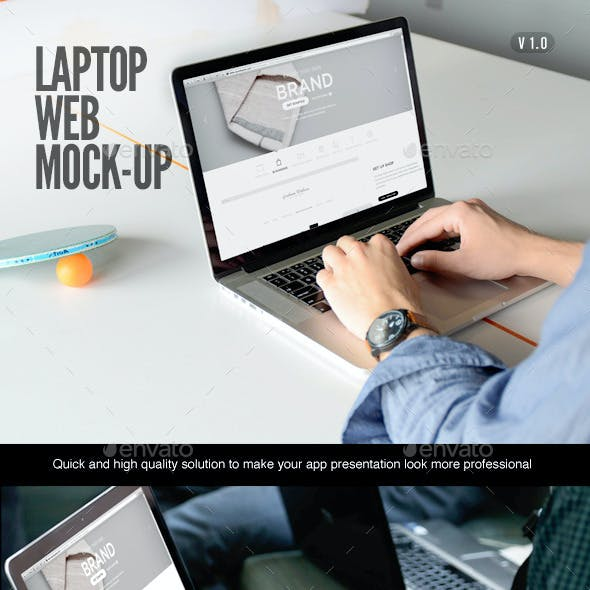 Laptop | Web App Mock-Up