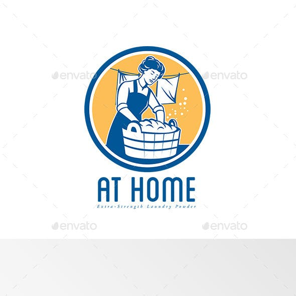 At Home Extra Strong Laundry Powder Logo