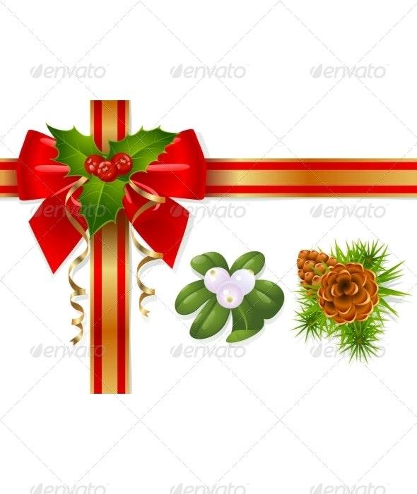 Christmas bow - Christmas Seasons/Holidays
