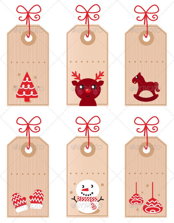Christmas characters icons and elements - Christmas Seasons/Holidays