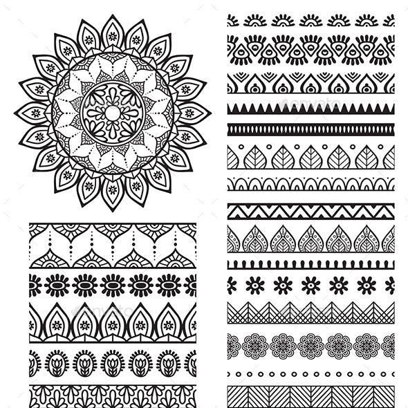 Mandala Ornament and Borders