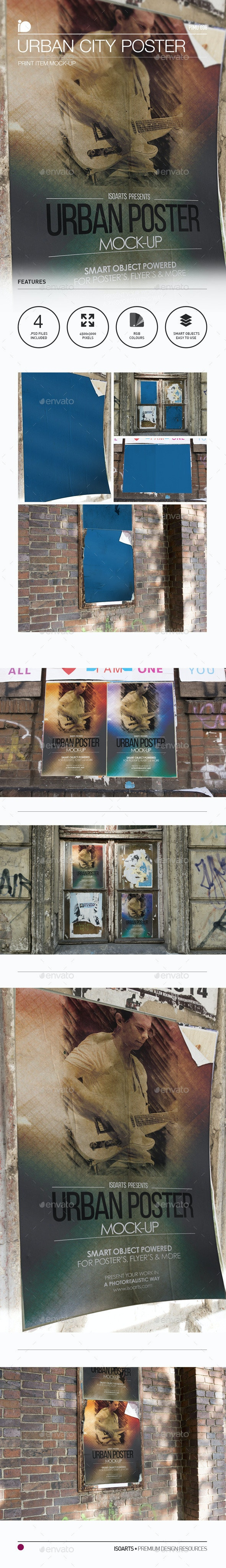 Mock-Up • Urban City Poster - Print Product Mock-Ups