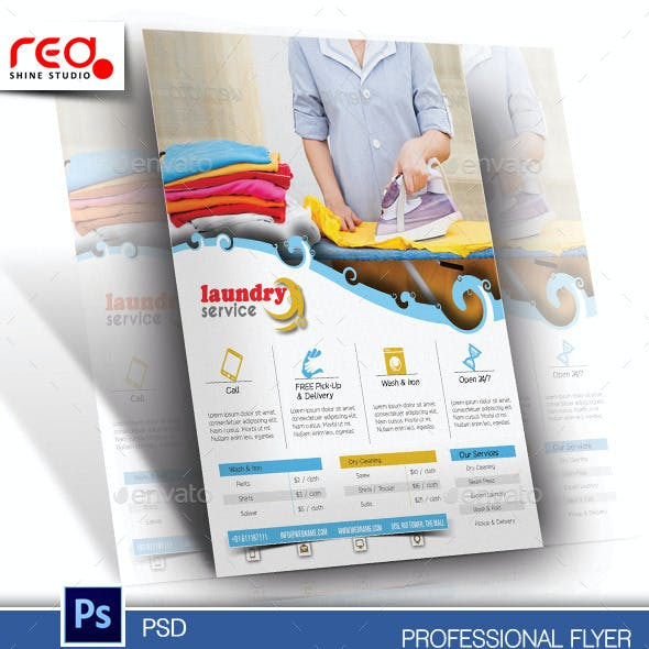 Laundry Service Flyer & Poster Template