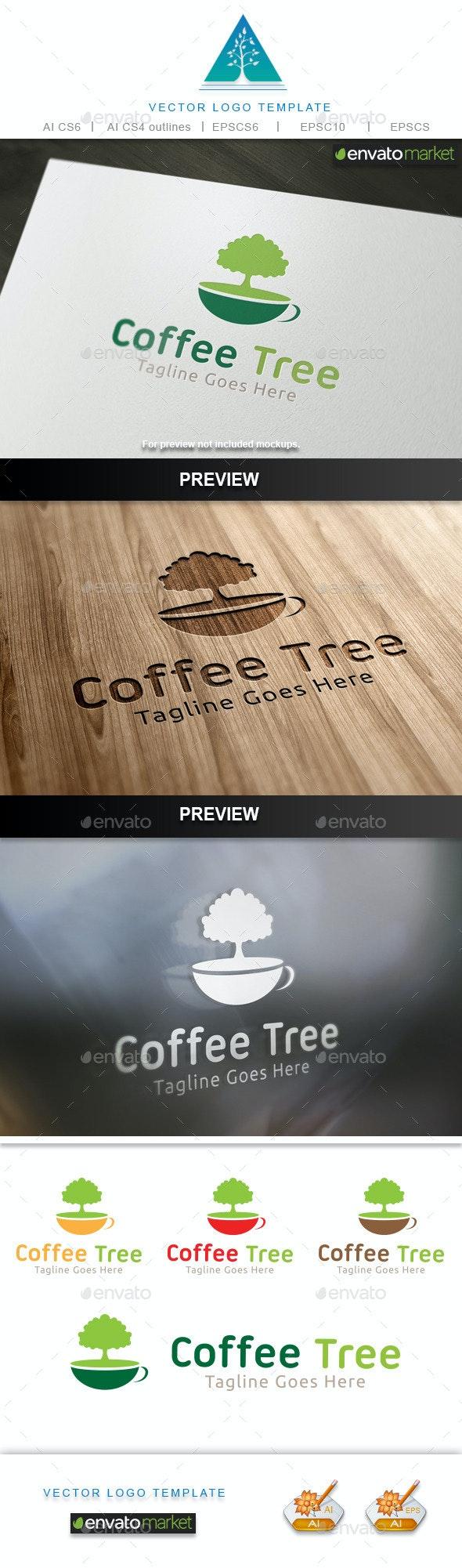 Coffee Tree Logo - Food Logo Templates