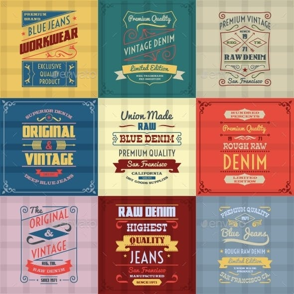 Denim Jeans Labels