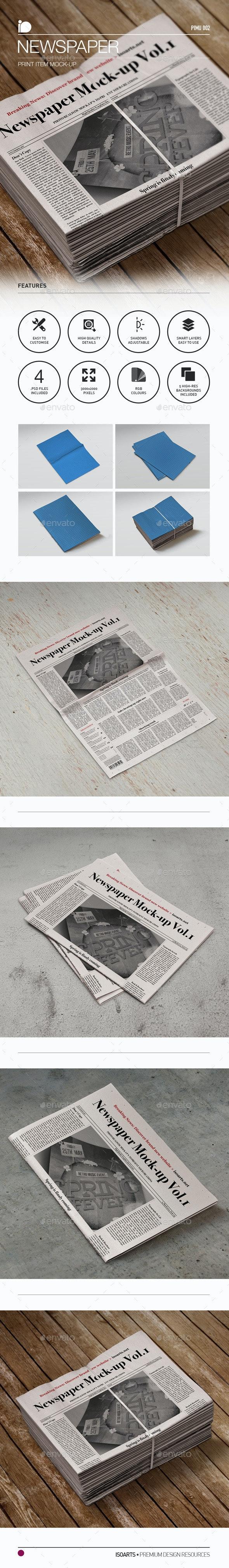 Mock-Up • Newspaper - Print Product Mock-Ups
