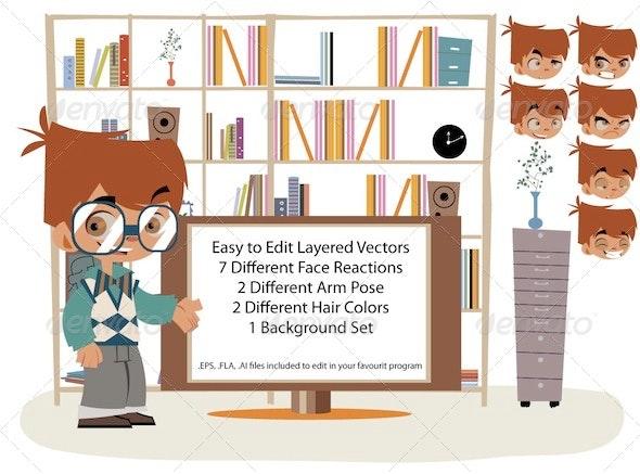 Smart Boy Toon - Characters Vectors