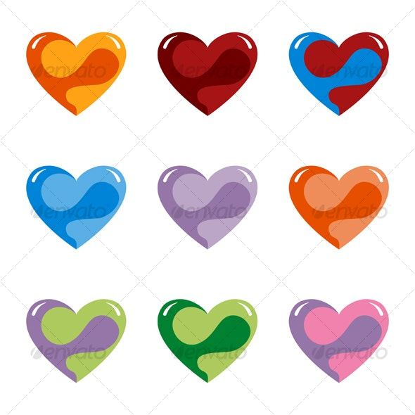 Fantasy Hearts - Characters Vectors