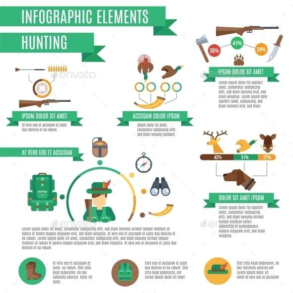 Hunting Infographics Set