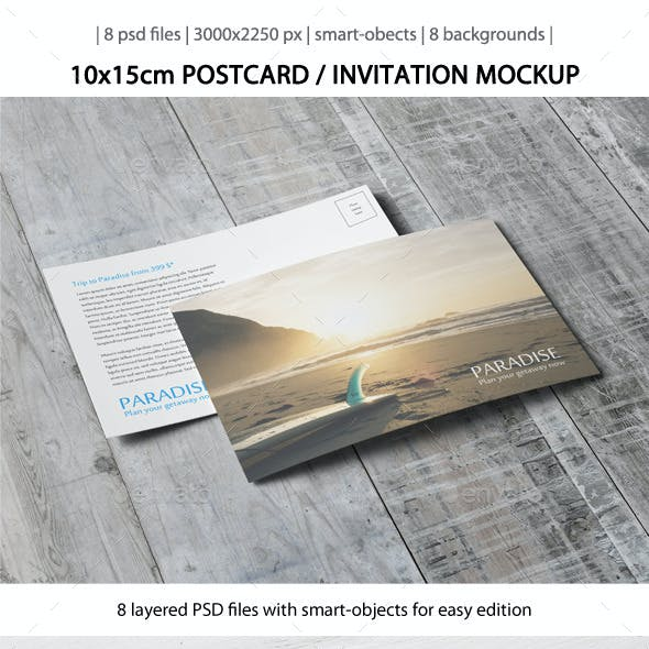 Postcard / Invitation Mock-Up [10x15cm]