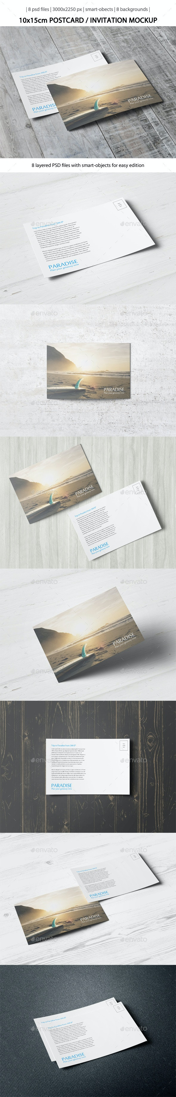 Postcard / Invitation Mock-Up [10x15cm] - Miscellaneous Print
