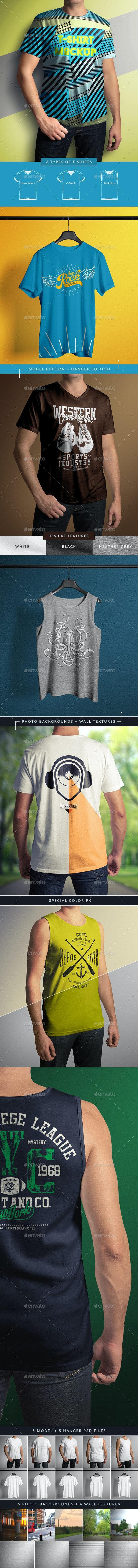 T-Shirt Mock-Up Male Model / Classic Edition - T-shirts Apparel