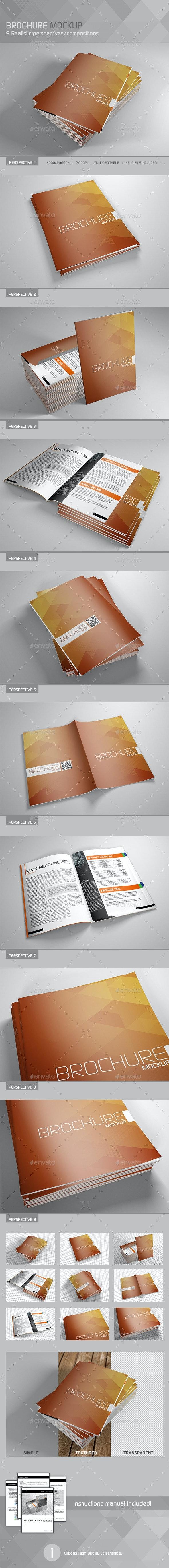 Realistic Brochure/Booklet/Magazine Mockup - Brochures Print
