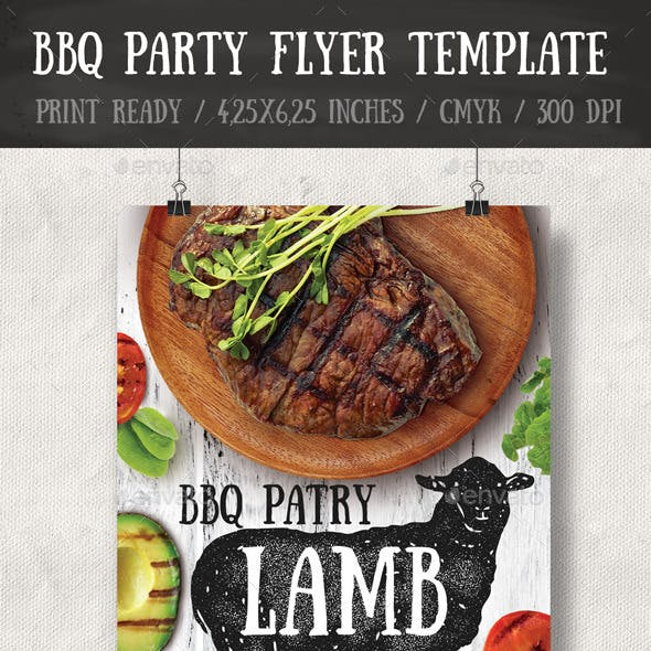 BBQ Party Flyer / Poster Template