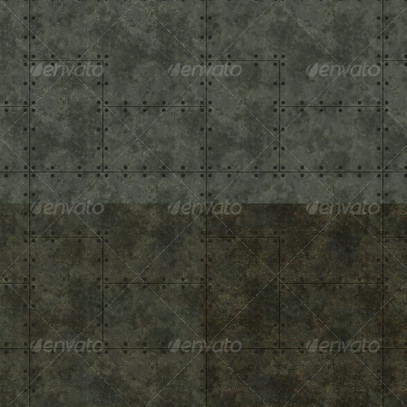 Riveted Metal - Patterns Backgrounds