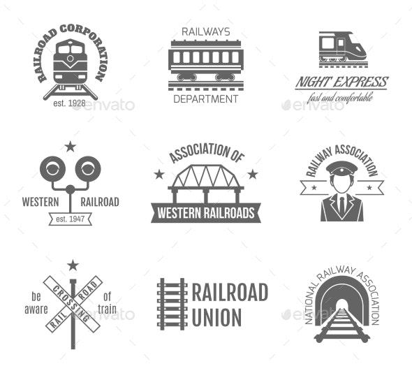 Railway Label Set - Travel Conceptual