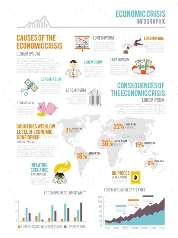 Economic Crisis Infographics - Business Conceptual