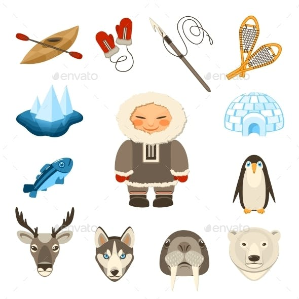 Chukchi Icons Set