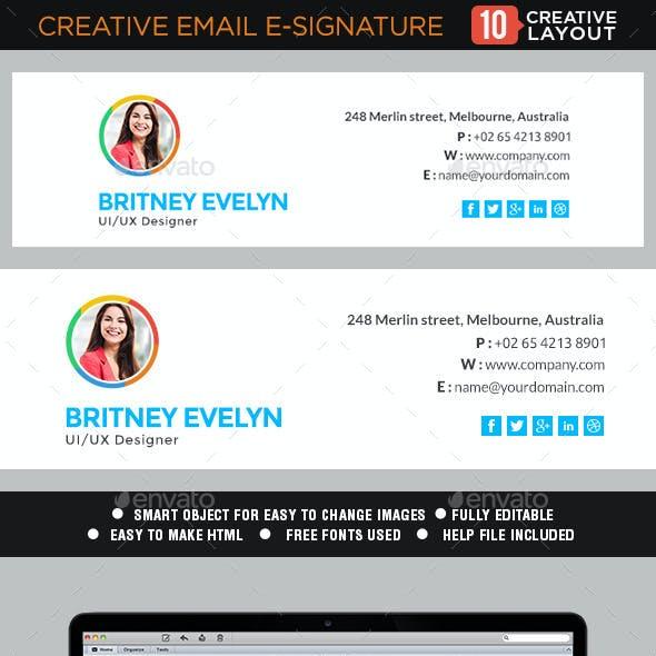 Email Signature Templates - 10 Designs