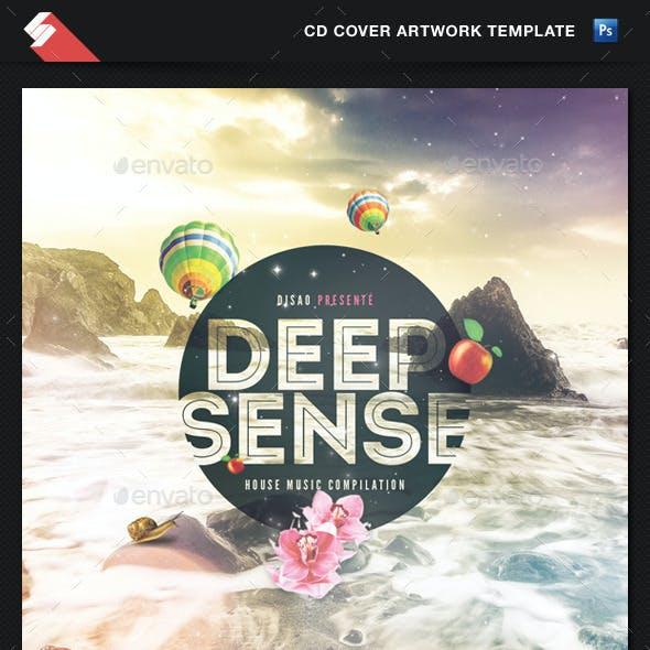 Deep Sense - Sensual CD Cover Artwork Template