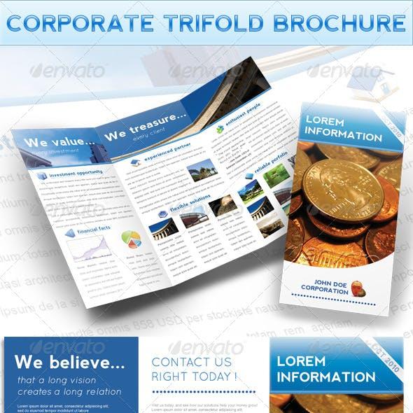 Elegant Corporate A4 Trifold Brochure