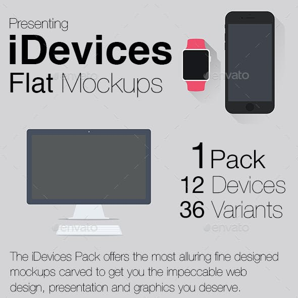 iDevices Flat Mockups