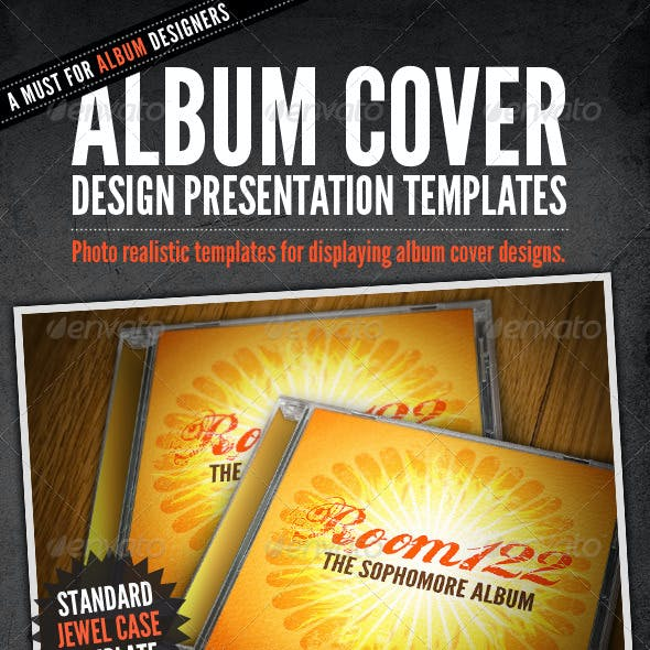 Album Cover CD Mock-Ups