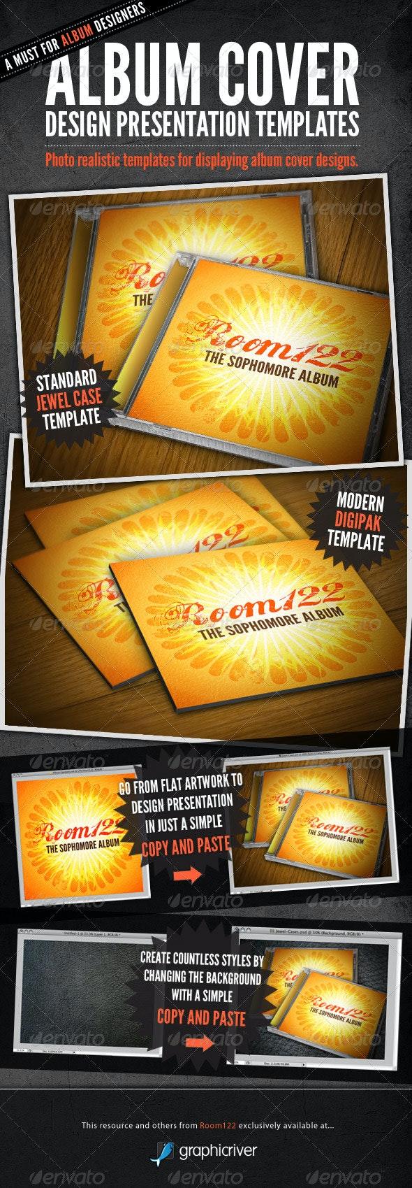 Album Cover CD Mock-Ups - Discs Packaging