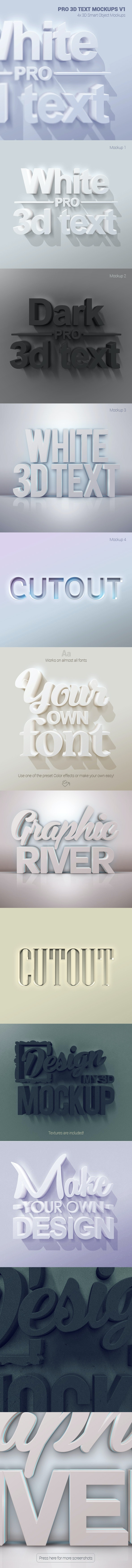 Pro 3D Text Mockups V1 - Text Effects Actions