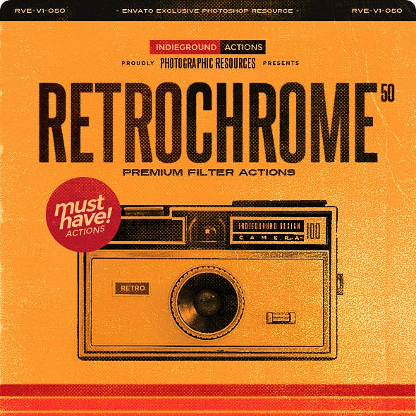 RetroChrome - 50 Vintage Photo Effect Actions