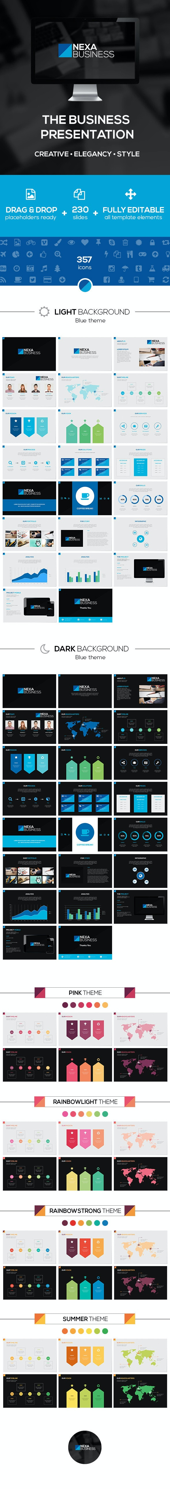 Nexa Business PowerPoint Template - Creative PowerPoint Templates