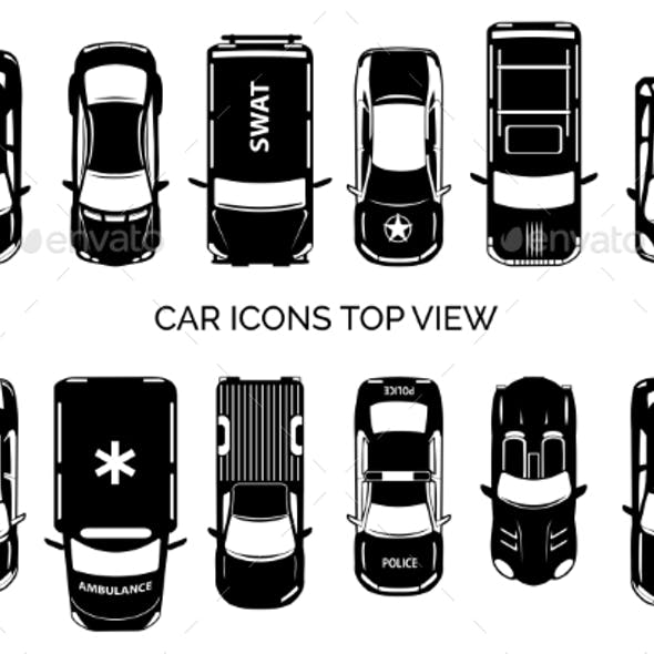 Car Icons Top View