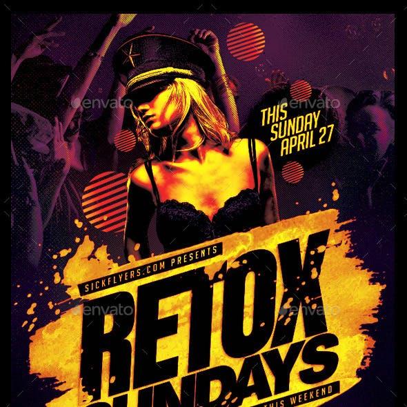 Retox Flyer PSD