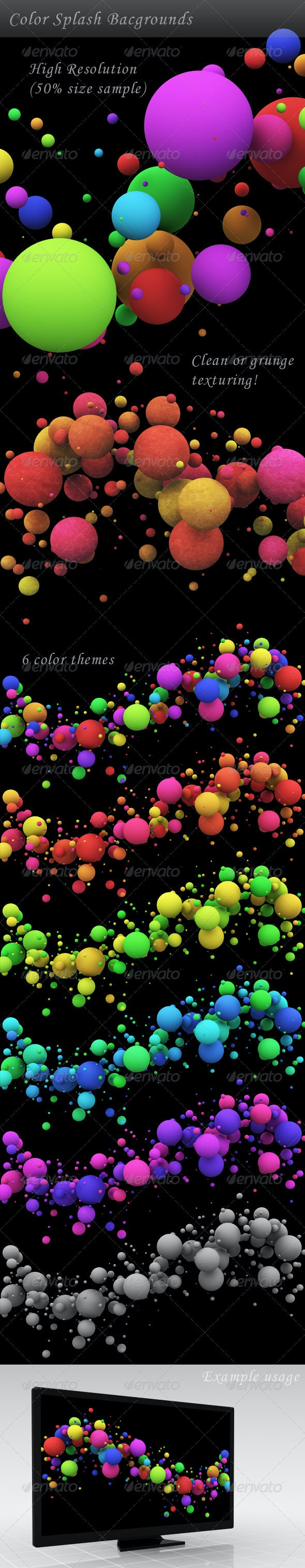 Color Splash Background - Abstract Backgrounds