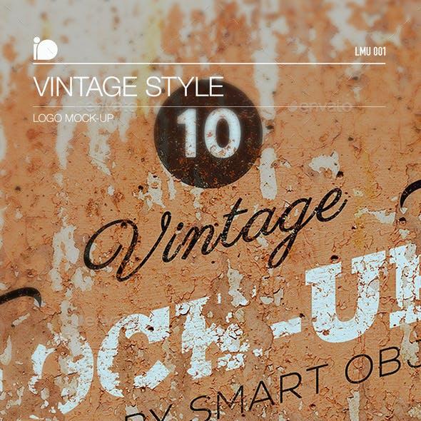 Logo Mock-Up • Vintage Style
