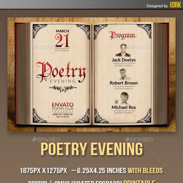 Poetry Evening flyer
